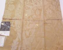 Floral Damask Fabric F Schumacher Fabric 28'' x 26'' 51900 Tela Damasco Sandstone 100% Linen + FREE SAMPLES!!!!