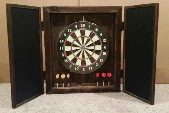 Custom Made Reclaimed Barn Wood Dart Board By