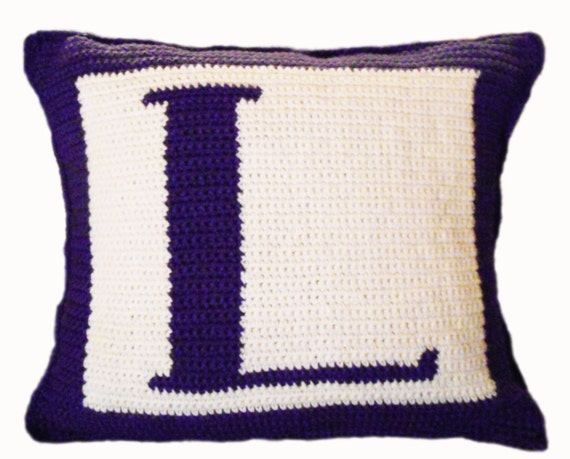 Free Crochet Letter Pillow Pattern : Crochet Pattern Letter L Crochet Pillow