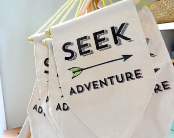 Seek Adventure - Wall Hanging / Banner