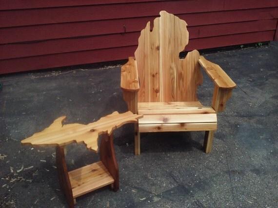Michigan Adirondack Chair And Upper Peninsula Table Michigan