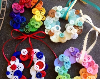 Mini Button Wreaths