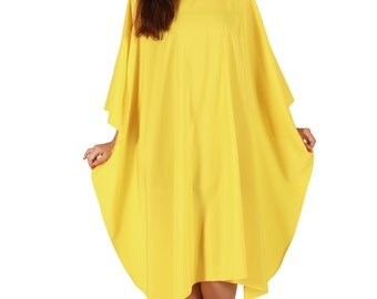 2005 Yellow Large Cutting and shampoo cape, Full Cape, water resistant