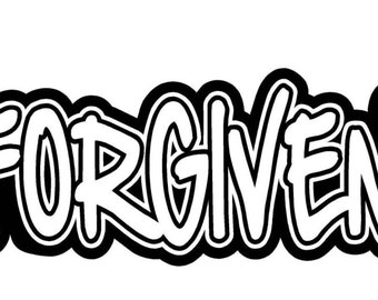 Forgiven Car Decal w/ Crosses