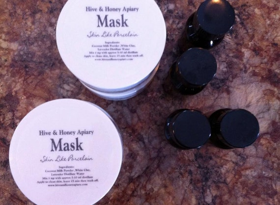 Skin Like Porcelain All Natural Face and Skin Mask, treats three faces.