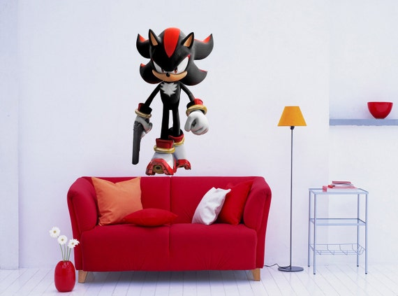 Shadow the hedgehog sonic decal removable wall by printadream - Sonic wall decals ...
