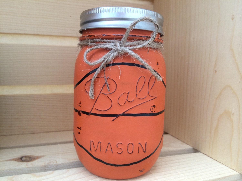 Choose 1 mason jar piggy bank baseball by midnightowlcandleco for Mason jar piggy bank