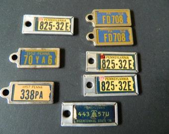 Vintage license plate Key rings