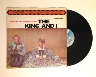 20% OFF SALE LP Album Rodgers And Hammerstein The King And I Vinyl Record Original Broadway Cast 1980 Repress