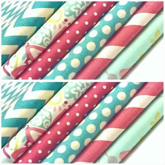 Kids fabric fabric bundle baby fabric dots chevron for Kids apparel fabric