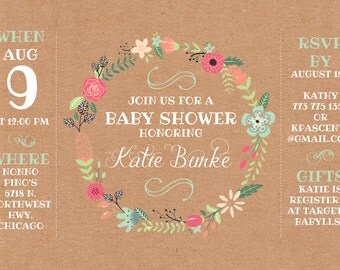 Custom Baby Shower Invitiation (Burke)
