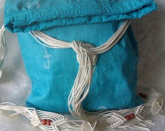 Turquoise Flap Over Bag