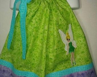 Princess Fairy Tink Tinkerbell Bell Fairies Girl Pillowcase Pillow Case Girl Boutique Summer Sun Dress! Birthday Party Dress