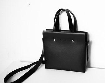 Leather Satchel Shoulder Top Handle Bag Handmade,Minimalist Modern Unique, Gift For Her, Personalization