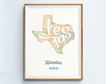 Houston Print - Houston Art - Houston Poster