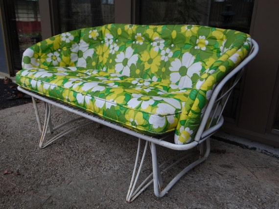 HOLD for CLAIBORNEHILL Vintage Mid Century Homecrest Loveseat
