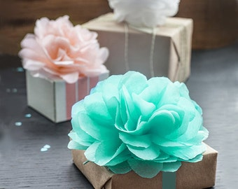 50 pcs 10 cm Mini Tissue Paper Pom Poms - DIY Wedding Decor, Baby Shower Birthday Party Decoration