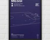 Lionel Messi vs Athletic Bilbao 2015 Copa Del Rey Giclee Print