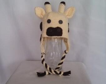 Giraffe Ear Flapper Hat