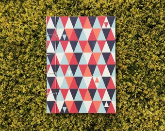 Japanese Bound A6 Notebook 'Macros' geometric pattern – 20 pages
