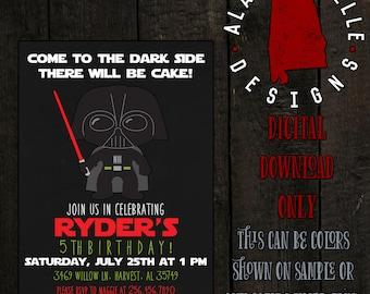 Darth Vader Birthday Invitation