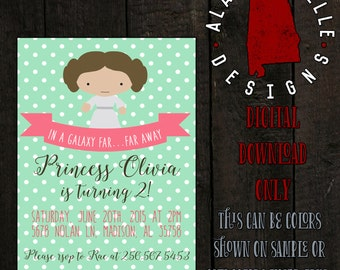 Princess Leia Birthday Invitation
