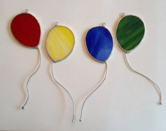 Handmade Stained Glass Balloon