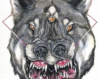 "8x10"" print: Triwolf"