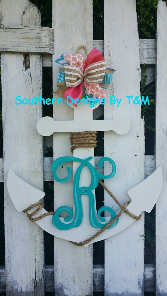 Beautiful Wooden Anchor Door Hanger Wall By Southerndesignsbytm