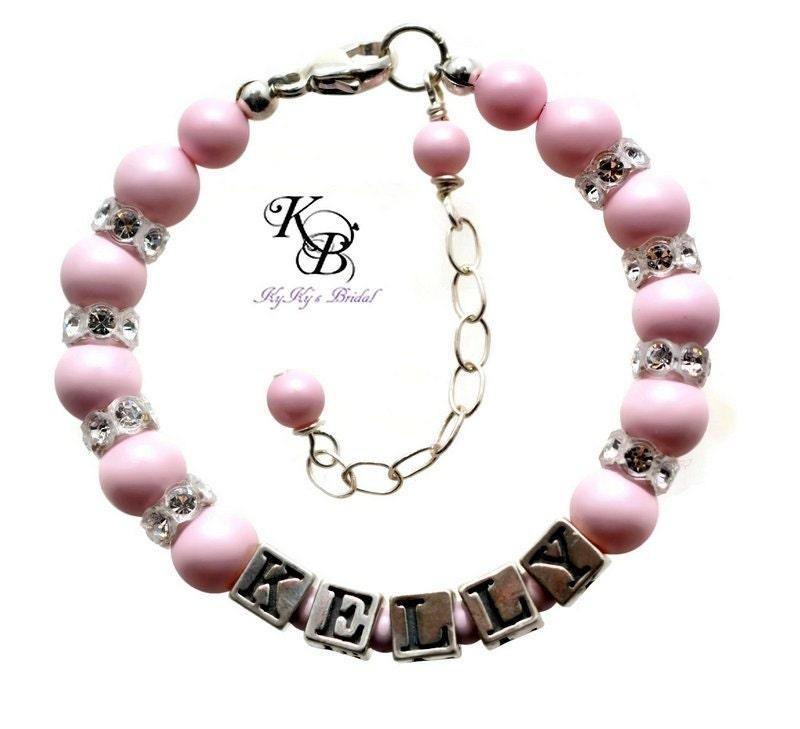 Baby Bangle Gift Box : Baby bracelet personalized gift free box pastel