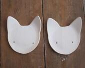 Imuusk small white cat plate