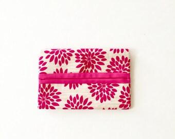 Pocket tissue case/ Pink Flower