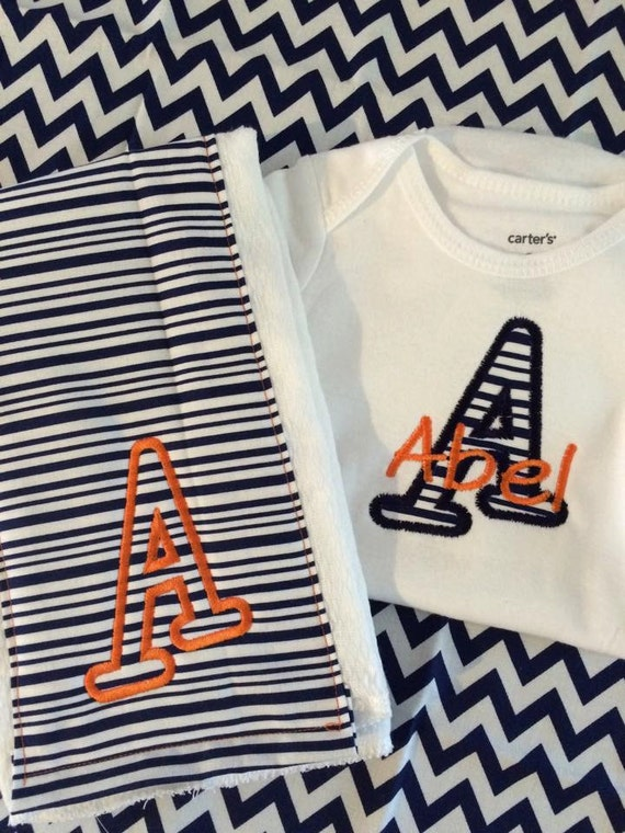 Auburn Baby Gift Set Includes esie and Burp Cloth
