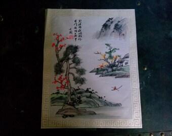 Vintage Asian Print on Fabric