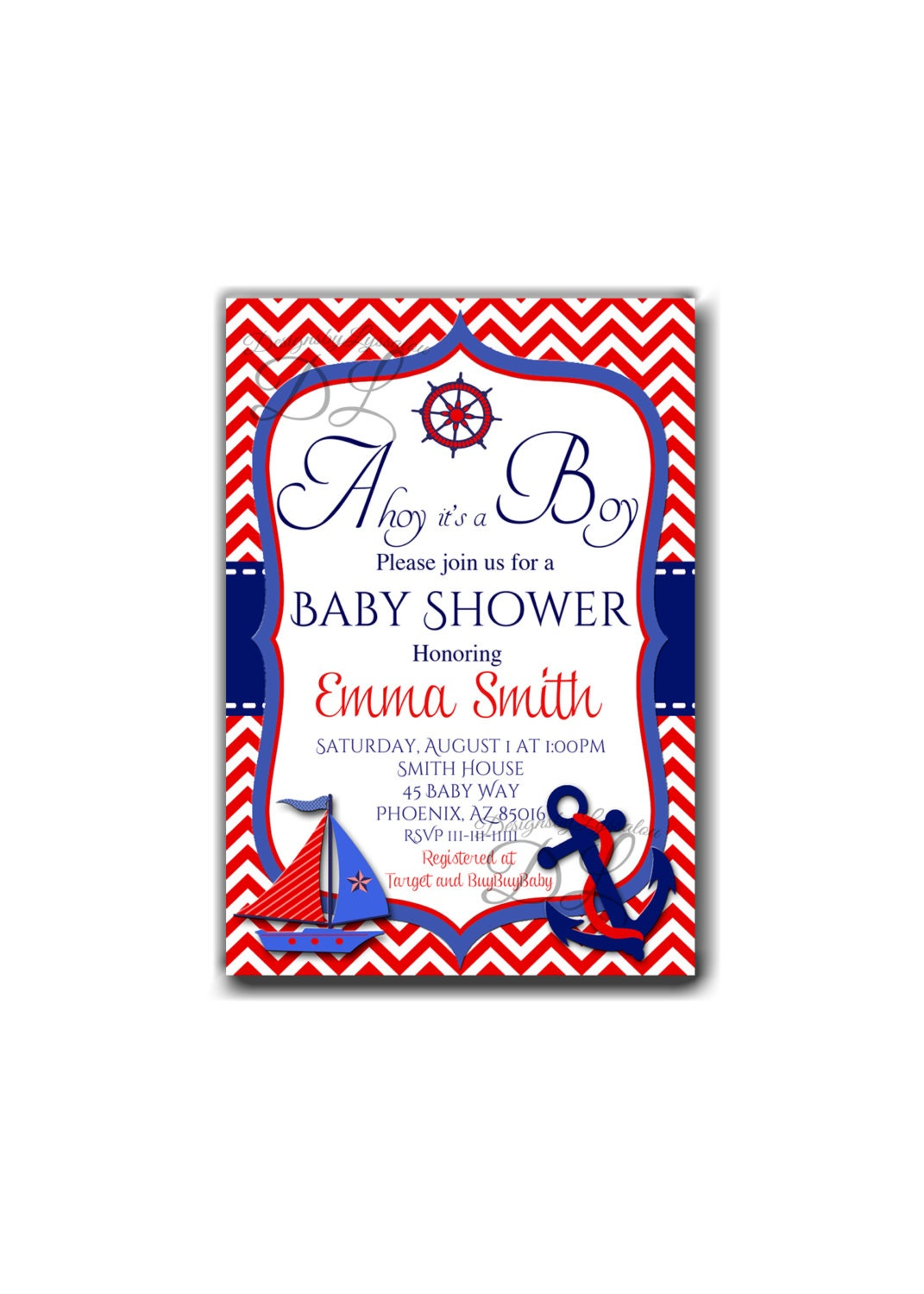 baby shower invitation ahoy it 39 s a boy baby shower