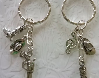 Line dancing keyring~country & western gift~country dancing~cowboy themed gifts