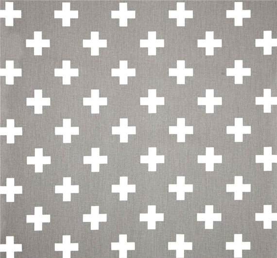 Nordic Scandi Grey Amp White Cross Cotton Fabric By The Yard