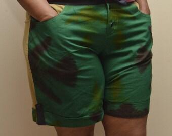 Size 14/16 African Tie-Dye Shorts