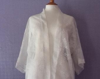 Vintage lace 3/4 sleeve kimono