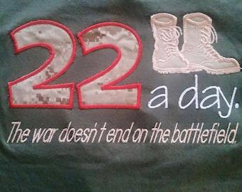 PTSD 22 a day tshirt or sweatshirt