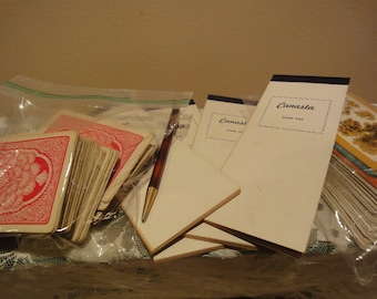 Vintage Canasta Score Pads/Vintage Cards/Vintage Games/Vintage Games and Puzzels/Vintage Card Decks