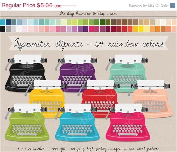 Cute Typewriter Clipart Typewriter Clipart Digital