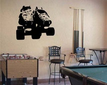 "Roller DERBY SKATES Vinyl Wall Sticker Decal 40""h x 40""w"