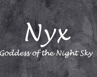 Greek Goddess Nyx - Correspondence BoS Pages - Prayers Activities - Pagan Wicca - Wiccan Witch - Dark Witchcraft - Night Magick