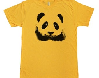 Panda Face Graphic printed on Men's  t-shirt