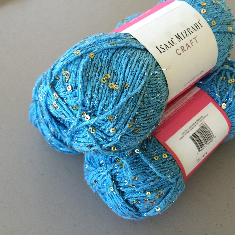 Sequin Cotton Blend Yarn Sequin Yarn Isaac Mizrahi Craft by