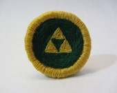 Legend of Zelda Triforce Hand Embroidered Merit Badge-Style Patch