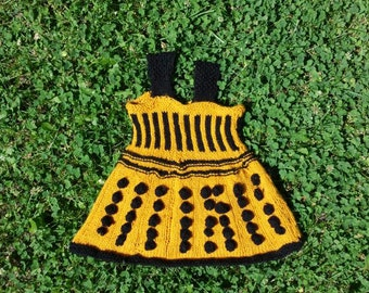 Toddler Knitted Acrylic Dalek Dress Doctor Who