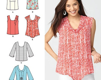 Misses' Tops Simplicity Pattern 1806