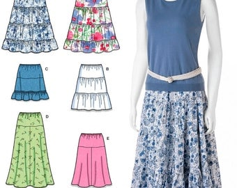Misses Skirts Simplicity Pattern 2609